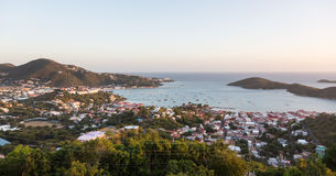 Sunset over Charlotte Amalie St Thomas Stock Image