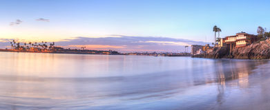 Sunset over the harbor in Corona del Mar Stock Photos