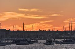 Sunset over Harbor Island Royalty Free Stock Image