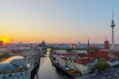 Sunset over the heart of Berlin Stock Images