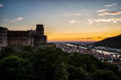 Sunset over Heidelberg Royalty Free Stock Image