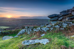 Sunset over Helman Tor Stock Images