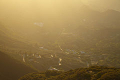 Sunset over the hills in Malibu. California Royalty Free Stock Photography