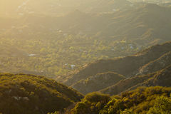 Sunset over the hills in Malibu. California Stock Photo
