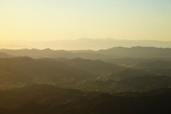 Sunset over the hills in Malibu. California Royalty Free Stock Photos