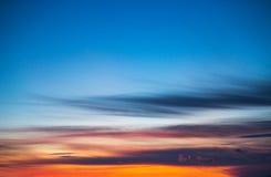 Sunset over the horizon Stock Photos