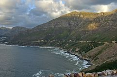 Sunset over the Hout bay coastline Stock Photos