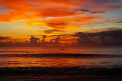 Sunset over the Indian ocean Stock Photography