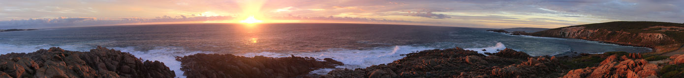 Sunset over the Indian Ocean. Sunset over the India Ocean ( Margret River ) ( high resolution panorama Stock Images