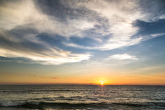 Sunset over the Indian ocean Stock Images