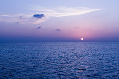 Sunset over the Indian Ocean. Royalty Free Stock Photography