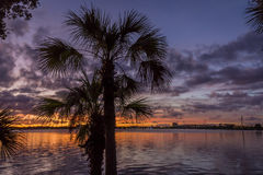 Sunset Over the Indian River - Merritt Island, Florida royalty free stock photo