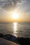 Sunset over the Ionian Sea Stock Photography