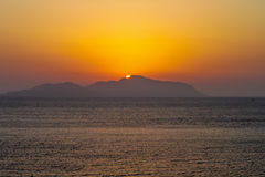 Sunset over an island in the Red Sea Royalty Free Stock Image