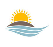 Free Sunset Over Island Vector Stock Images - 78209024