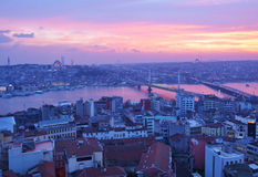 Sunset over Istanbul, Turkey Royalty Free Stock Image