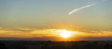 Sunset over the Italian Alps Stock Photos