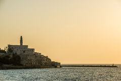 Sunset over Jaffa Stock Images