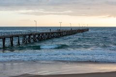 Sunset over the Jetty at Port Noarlunga South Australia on 12th. Sunset over the Jetty at Port Noarlunga South Australia stock images