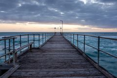 Sunset over the Jetty at Port Noarlunga South Australia on 12th Royalty Free Stock Photo