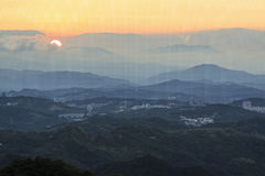 Sunset over Jiufen, Taiwan Royalty Free Stock Images