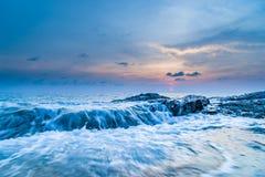 Sunset over Khao Lak beach Royalty Free Stock Photos