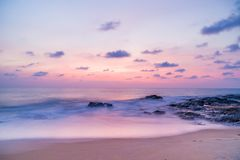 Sunset over Khao Lak beach Royalty Free Stock Images