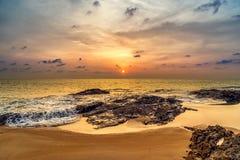 Sunset over Khao Lak beach Stock Image