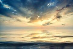 Sunset over Khao Lak beach Stock Photo