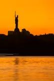 Sunset over Kiev city skyline Stock Photo