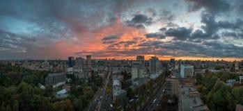 Sunset over Kiev Royalty Free Stock Photos