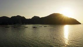Sunset over ko phi phi Royalty Free Stock Photos