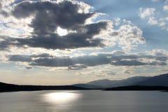 Sunset over Koprinka Dam Royalty Free Stock Photo
