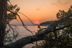 Sunset over Kornati Islands Stock Photography