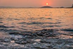 Sunset over Kornati Islands Royalty Free Stock Photo