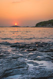 Sunset over Kornati Islands Stock Photography