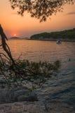 Sunset over Kornati Islands Royalty Free Stock Photography