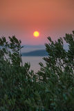 Sunset over Kornati Islands Royalty Free Stock Photography