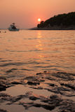Sunset over Kornati Islands Stock Images