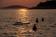 Sunset over Kornati Islands Stock Images