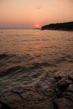 Sunset over Kornati Islands Royalty Free Stock Photos