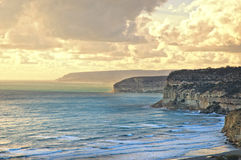 Sunset over Kourion coast Stock Photos