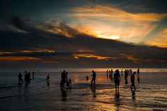 Sunset over Kuta Beach Stock Image