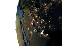 Sunset over Kuwait from space Royalty Free Stock Photos