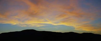 Sunset over Laguna Canyon, Laguna Beach, California. Royalty Free Stock Photo