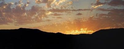 Sunset over Laguna Canyon, Laguna Beach, California. Royalty Free Stock Photography