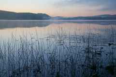 Sunset over a lake. Royalty Free Stock Photo