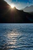 Sunset over lake Stock Photo
