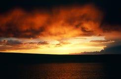 Sunset over Lake Abert Royalty Free Stock Photo