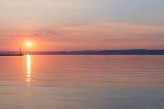 Sunset over Lake Balaton, Hungary Stock Photos